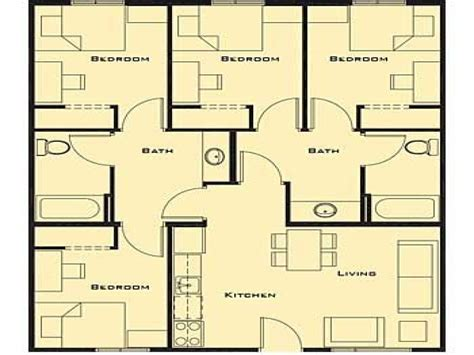 4 bedroom house plan small 4 bedroom house plans 17 best 1000 ideas about small