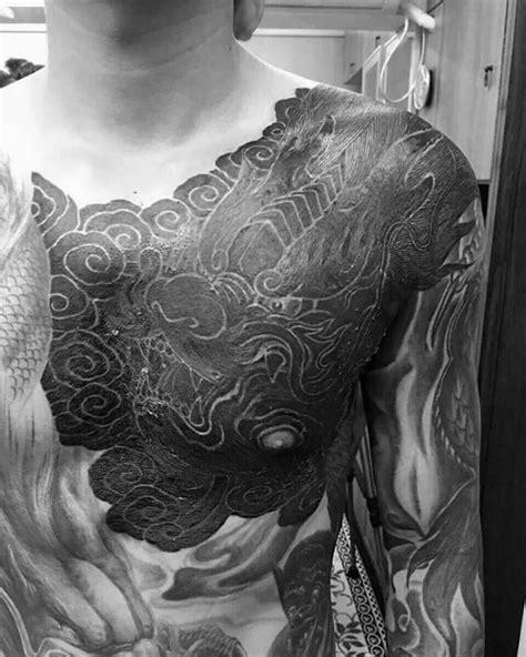 40 Dragon Chest Tattoo Designs For Men - Mythical Monster