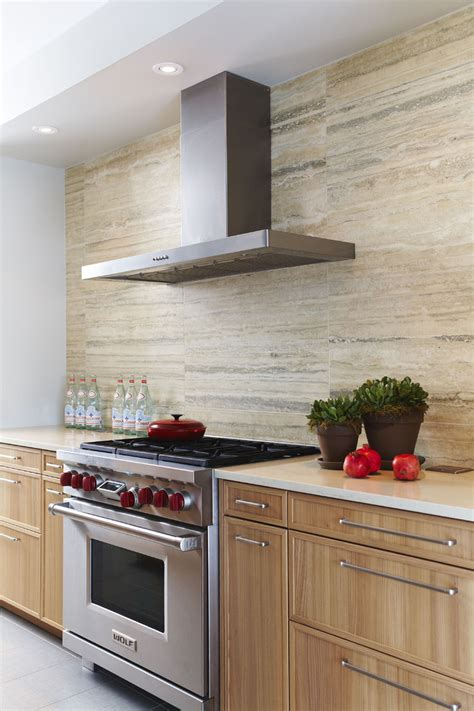 modern tile kitchen sumptuous travertine backsplash in kitchen traditional 4236