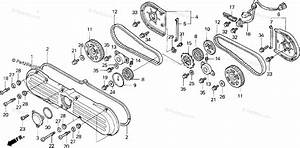 Honda Motorcycle 1999 Oem Parts Diagram For Front Cover