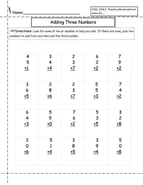 Fun Aaa Math Worksheets  Activity Shelter