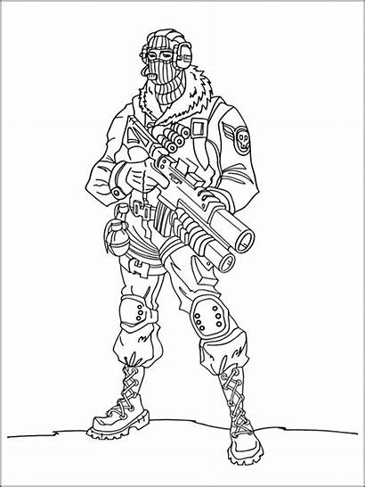 Fortnite Coloring Pages Printable Sheets Rocks Cartoon