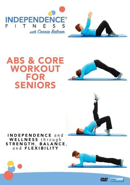 seniors core workout abs fitness workouts independence balance exercise dvd coordination collage