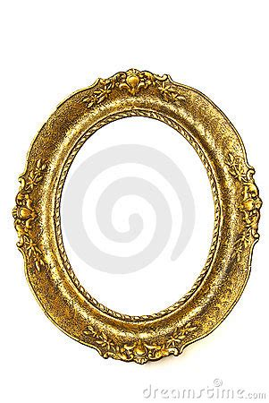 gold frame oval royalty  stock photo image