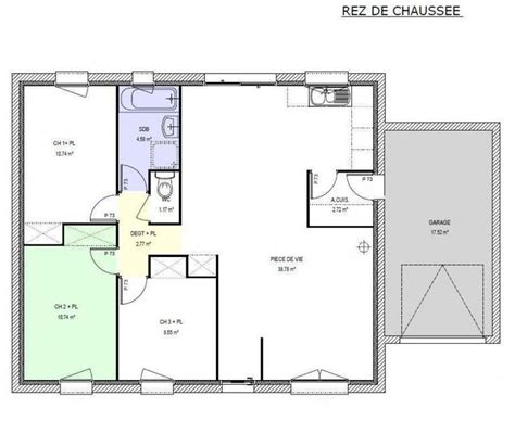 exemple cuisine ouverte s駛our 17 best ideas about plan maison 3 chambres on plans de maison de rêve construction d une maison and plan maison 2 chambres