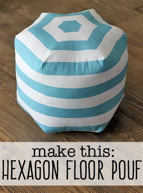 Diy Ottoman Pouf by 30 Diy Ottoman Floor Pouf Projects Awesome Tutorials