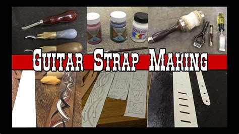 guitar strap making part     custom leather guitar straps leathercraft tutorial youtube