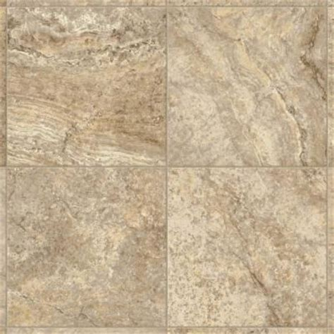 Armstrong 12 ft. Wide Bristol Travertine Manor Creme Vinyl