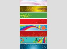 Colorful banner background vector Free vector in