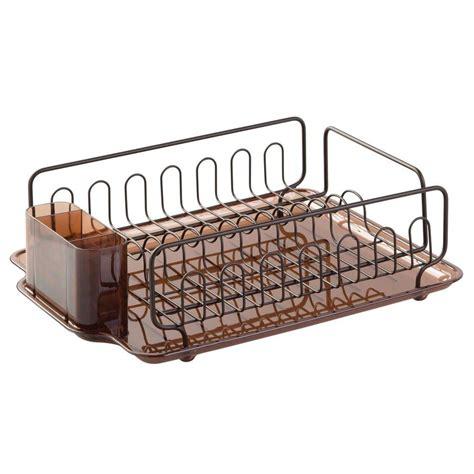 dish drainer rack interdesign forma dish drainer in bronze 68982