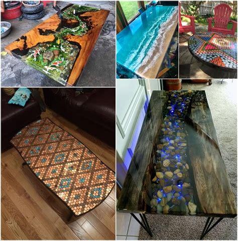 stunning epoxy resin table designs