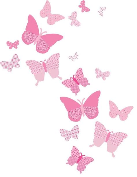 turquoise home accents vintage butterfly wall decals pink craftsman