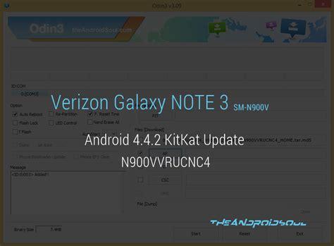 n900vvrucnc4 verizon galaxy note 3 android 4 4 2 kitkat