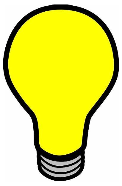 Bulb Clip Clker Clipart Vector Royalty