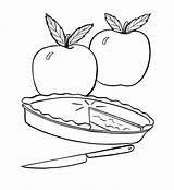 Apple Coloring Pie Pages Fruit Colouring Sheets Fresh Printable Drawing Action Pies Template Simple Pumpkin Easter Coloringkidz Getcoloringpages Sketch sketch template