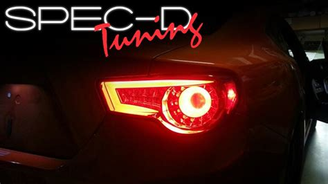 Scion Frs Tail Lights specdtuning installation video 2013 scion frs and subaru