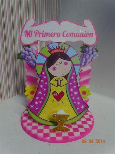 Motivo de torta en icopor de Primera Comunión de La Virgen