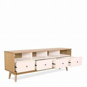 Meuble Style Scandinave : meuble tv scandinave 4 tiroirs skoll by drawer ~ Teatrodelosmanantiales.com Idées de Décoration