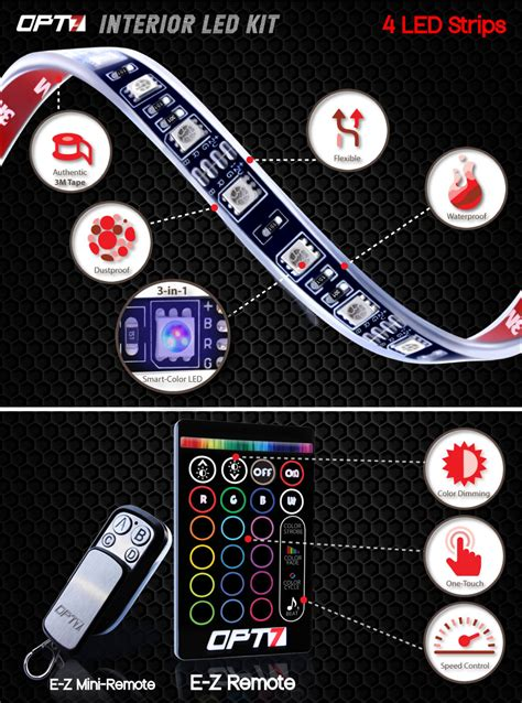 Opt7 Led Boat Lights by Opt7 4pc Led Boat Interior Lighting Kit Multi Color