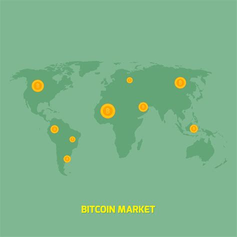 New users enjoy 60% off. bitcoins on world map illustration - money transfer - Download Free Vectors, Clipart Graphics ...