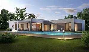 Maison Moderne Toit Plat : plan maison moderne plain pied toit plat charmant maison ~ Nature-et-papiers.com Idées de Décoration
