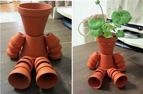 diy clay pot flower