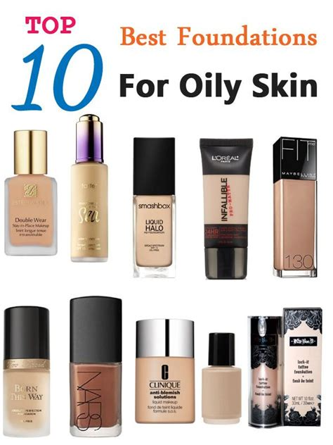 Top 10 Best Foundations For Oily Skin  Foundation, Makeup