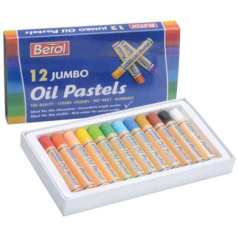 Membuat special effect dengan oil pastel : Berol Jumbo Oil Pastels Pack of 12 | Rapid Online
