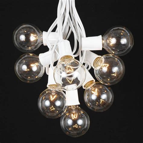 100 clear g50 globe string light set on white wire