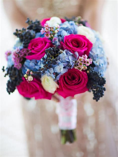 ideas  blue wedding flowers  pinterest blue