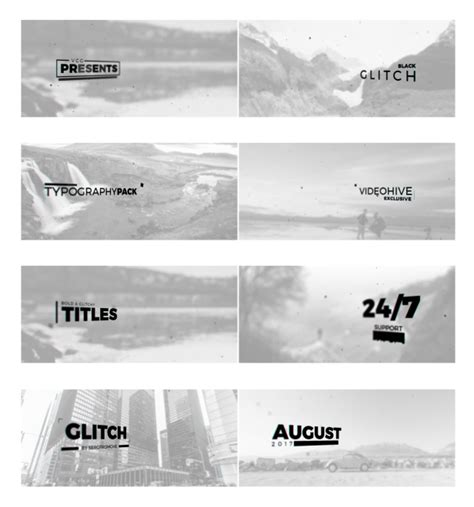 videohive black glitch   effects templates