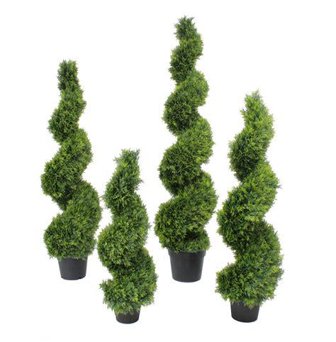 artificial cedar spiral fake spiralled conifer