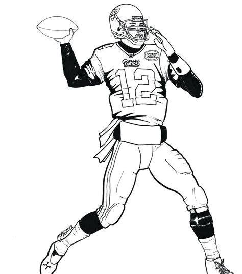 nfl player coloring pages  getcoloringscom