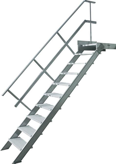 escalier droit aluminium construction speciale aluminium solution d acces sur mesure nfe