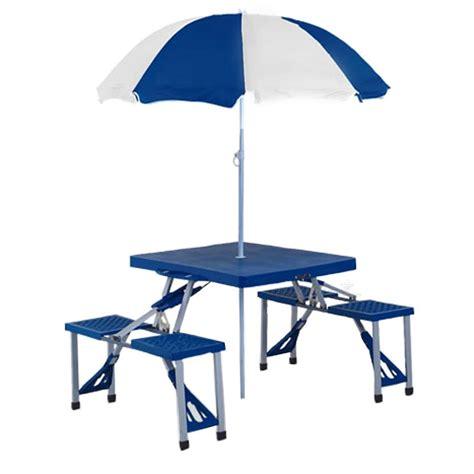 folding picnic table with umbrella portable folding picnic table homefurniture org