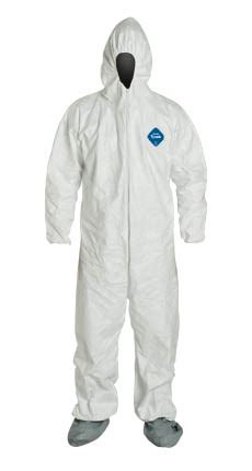 tyvek bunny suit coveralls disposable cleanroom apparel