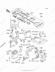 Kawasaki Motorcycle 2008 Oem Parts Diagram For Chassis