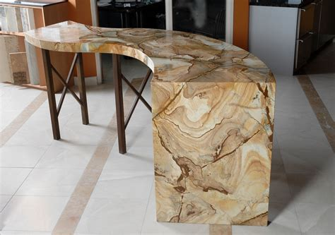 custom bardisplay table natural stone  aggie design