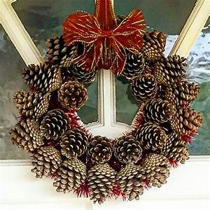 Easy, To, Make, Pine, Cone, Wreath