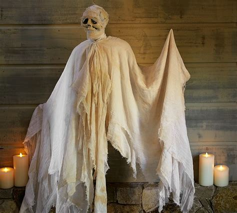 ghost decorations diy outdoor halloween decorations hanging mummy ghost