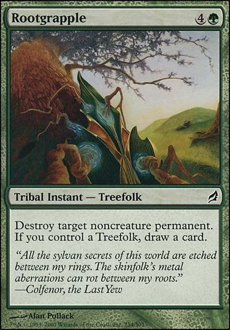 mtg green treefolk deck rootgrapple lrw mtg card