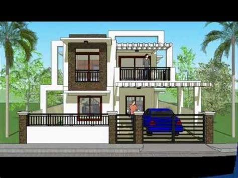 House Plan Designs Modern 2 Storey House YouTube
