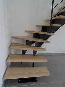 Escalier 4 Marches : escalier acier 1 4 tournant double limon central marches en fr ne massif ~ Melissatoandfro.com Idées de Décoration