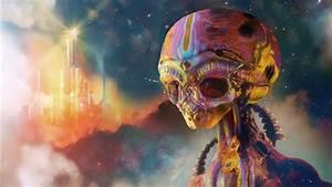 Artwork, Digital, Art, Aliens, Psychedelic, Colorful