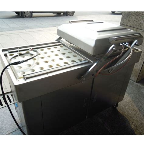 dz  stainless steel double chamber vacuum packaging machine continuous vacuum packaging
