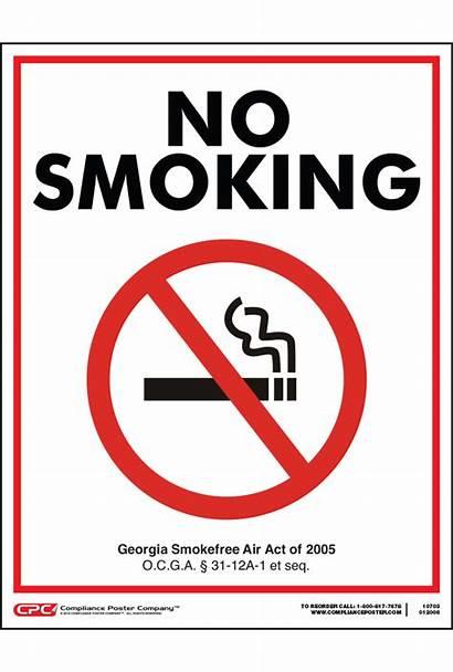 Smoking Poster Georgia State Complianceposter