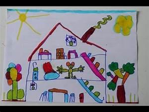 Dessin Intérieur Maison : dessin d 39 enfant l 39 int rieur de la maison youtube ~ Preciouscoupons.com Idées de Décoration