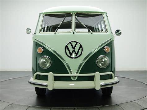 volkswagen van front 1963 67 volkswagen t 1 deluxe bus van classic rs wallpaper