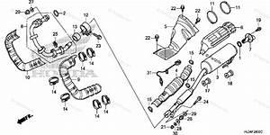 Honda Side By Side 2014 Oem Parts Diagram For Muffler
