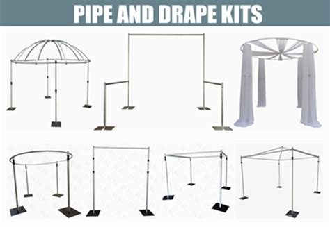 Where To Buy Pipe And Drape - adjustable pipe and drape kits event pipe and drape booth